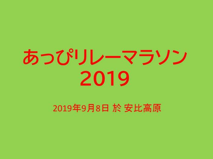 あっぴリレーマラソン 2019のサムネイル